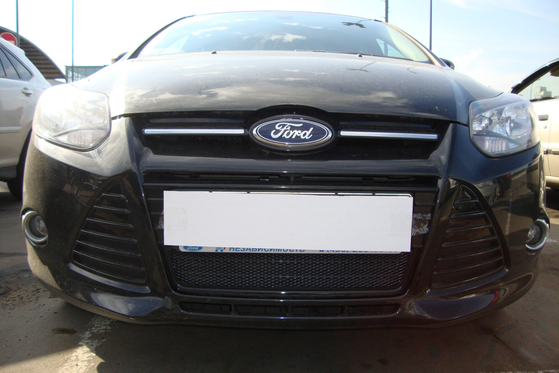 """Сетка в бампер! бортжурнал Ford Focus Hatchback III """"WTRENDE """" 2011"""